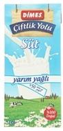 Resim Dimes Çiftlik Yolu UHT Yarım Yağlı Süt 1 lt