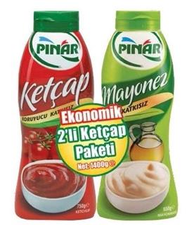 Pınar Ketçap 750 Gr + Mayonez 650 gr ürün resmi