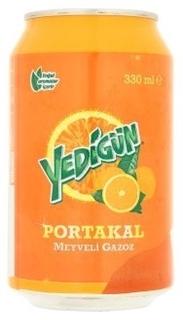 Yedigün Portakal Meyveli Gazoz 330 ml ürün resmi