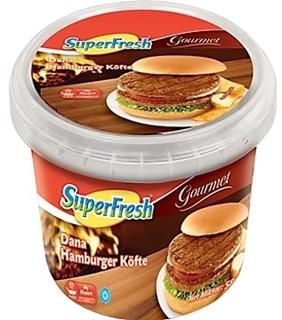 Superfresh Gourmet Derin Dondurulmuş Dana Hamburger Köfte 585 gr ürün resmi