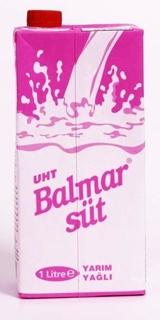 Balmar Yarım Yağlı Süt 1lt ürün resmi