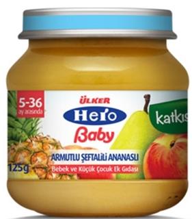 Hero Baby  Armut-Şeftali-Ananas 125 Gr ürün resmi