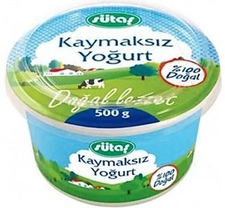 Sütaş Yoğurt Kaymaksız 500 Gr ürün resmi
