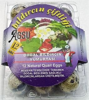 Agsu Doğal Bıldırcın Yumurtası 12 Adet ürün resmi