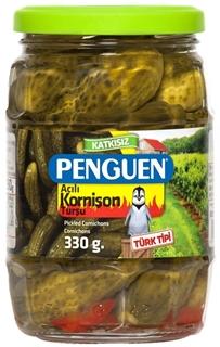 Penguen Kornişon Turşusu Acılı 330 Gr ürün resmi