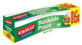 Koroplast Orta Boy Buzdolabı Poşeti 24 x 38 cm 38 Adet ürün resmi