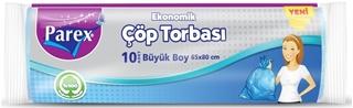 Parex Ekonomik Çöp Torbası Büyük Boy 65 x 80 cm 10 Adet ürün resmi