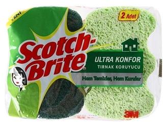 Scotch Brite Ultra Konfor Tırnak Koruyucu Bulaşık Süngeri 2 Adet ürün resmi