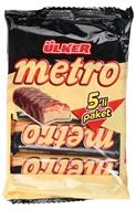Picture of Ülker Metro Sütlü Çikolata Kaplı Karamel ve Nugalı Bar 5 x 36 Gr