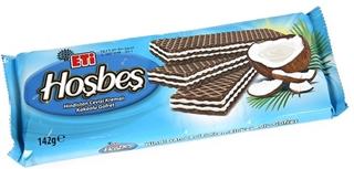 Eti Hoşbeş Hindistan Cevizi Kremalı Kakaolu Gofret 142 Gr ürün resmi