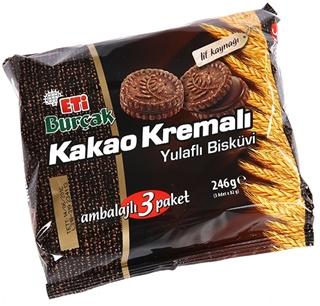 Eti Burçak Kakao Kremalı Kremalı Yulaflı Bisküvi 3x82 Gr ürün resmi
