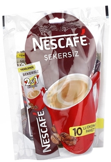 Nescafé Şekersiz 2 si 1 arada Kahve Karışımı 10 x 11 gr ürün resmi