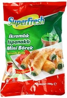 Superfresh Derin Dondurulmuş Ispanaklı Rulo Mini İkramlık Börek 500 gr ürün resmi