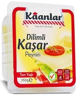 Picture of Kaanlar Dilimli Tam Yağlı Kaşar Peyniri 250 gr