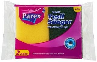 Parex Klasik Yeşil Düz Sünger 2 Li ürün resmi