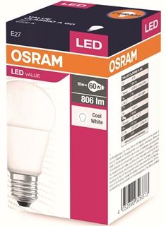 Osram Led Ampül Value Cla 60 9,5W/865 Fr E27 806 Lm ürün resmi