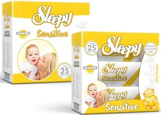 Sleepy Islak Havlu Sensitive 3 x 60 Yaprak ürün resmi
