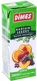 Dimes Karışık Meyveler 200 ml ürün resmi