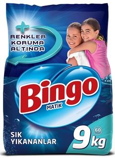 Bingo Matik Sık Yıkanan Çamaşırlar İçin Toz Deterjan 9 kg ürün resmi