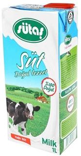 Sütaş Doğal Lezzet Uzun Ömürlü %3,0 Yağlı Süt 1 lt ürün resmi