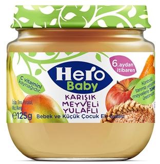 Hero Baby  Karışık Meyveli  Yulaflı 125 Gr ürün resmi
