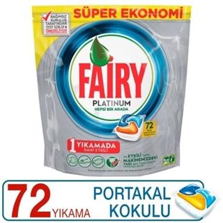 Fairy Platinum 72 Yıkama Bulaşık Makinesi Deterjanı Kapsülü Limon Kokulu ürün resmi