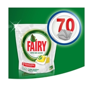 Resim Fairy Hepsi Bir Arada Bulaşık Makinesi Deterjanı Kapsülü Limon Kokulu 70 Yıkama