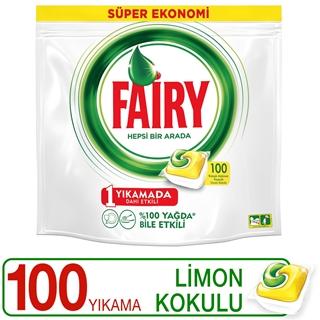 Fairy Hepsi Bir Arada Bulaşık Makinesi Deterjanı Kapsülü Limon Kokulu 100 Yıkama  ürün resmi