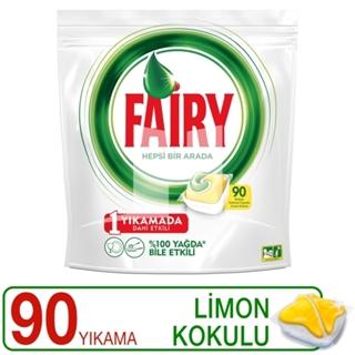 Picture of Fairy Hepsi Bir Arada Bulaşık Makinesi Deterjanı Kapsülü Limon Kokulu 90 Yıkama