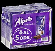Resim Alpella Çikolatalı Süt 6'Lı 200 ml