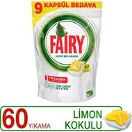 Fairy Hepsi Bir Arada Bulaşık Makinesi Deterjanı Kapsülü Limon Kokulu 60 Yıkama ürün resmi