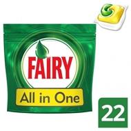 Resim Fairy Hepsi Bir Arada Bulaşık Makinesi Deterjanı Kapsülü Limon Kokulu 22 Yıkama