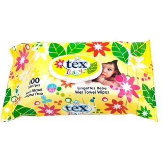 Tex Islak Mendil 100 Lü Yaz Çiçeği ürün resmi