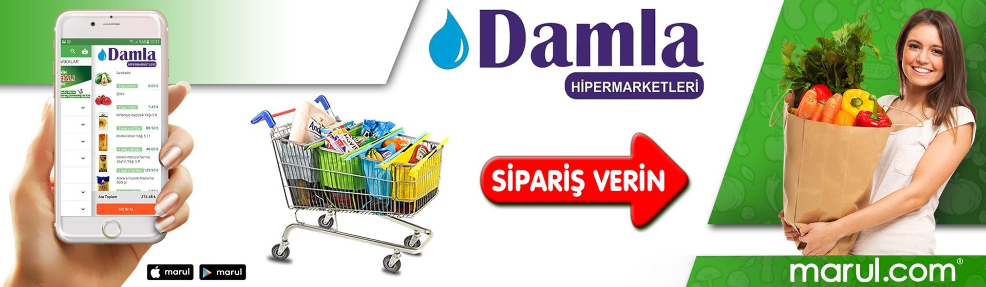 istanbul pendik damla hipermarket online market siparişi