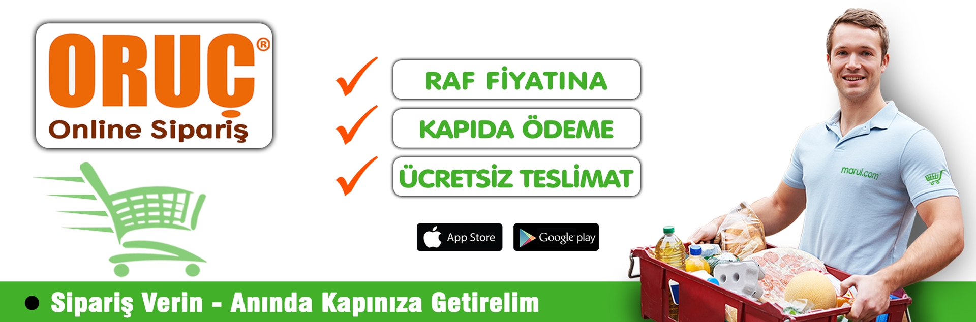 oruç market online sipariş tuzla şubesi