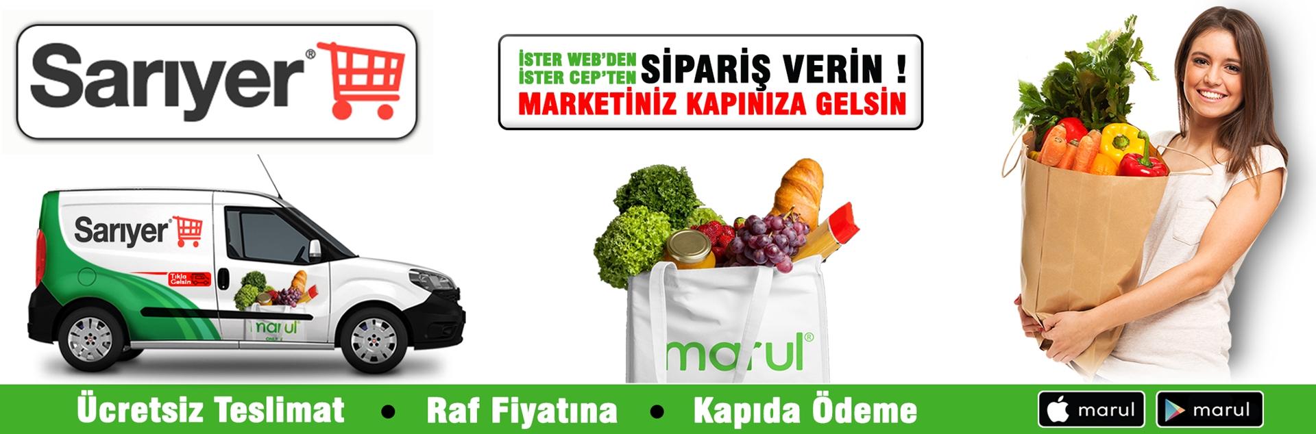 sarıyer market online market siparişi