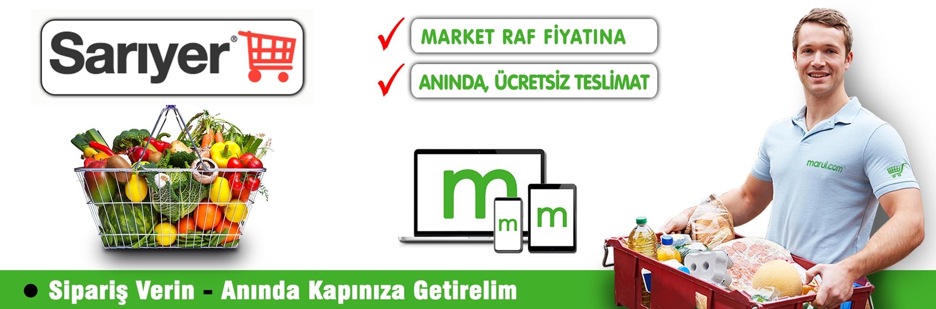 sarıyer market online market alışverişi