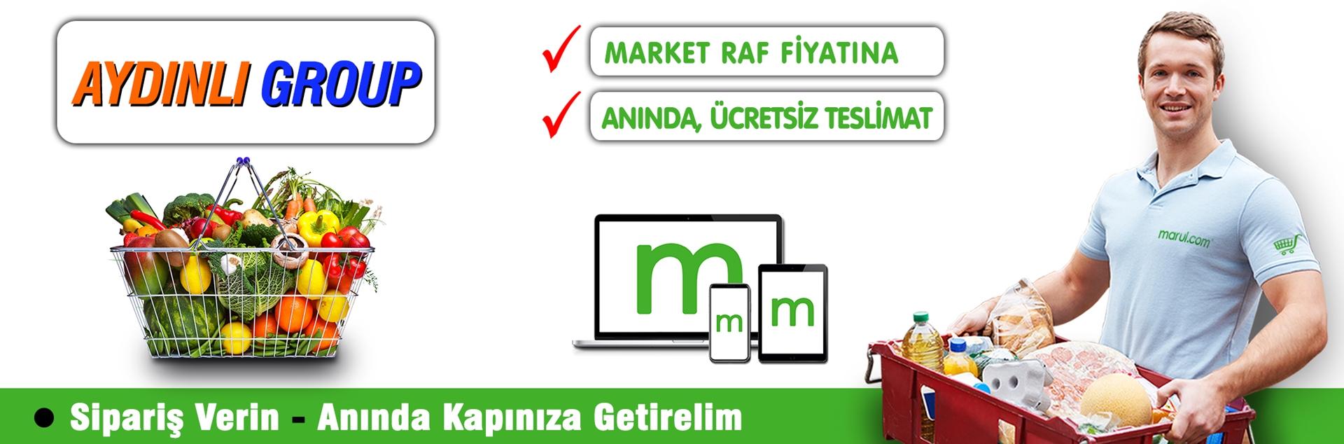 aydınlı group marketleri online market alışverişi
