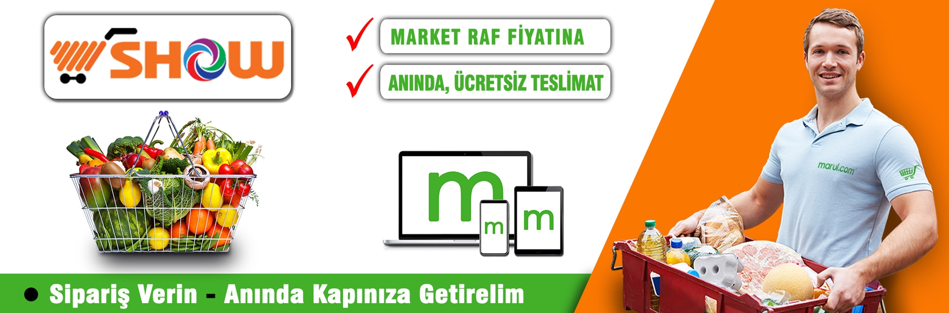 show hipermarketleri online market siparişi