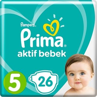 Prima Bebek Bezi Aktif Bebek 5 Beden Junior Paketi 26 Adet  ürün resmi