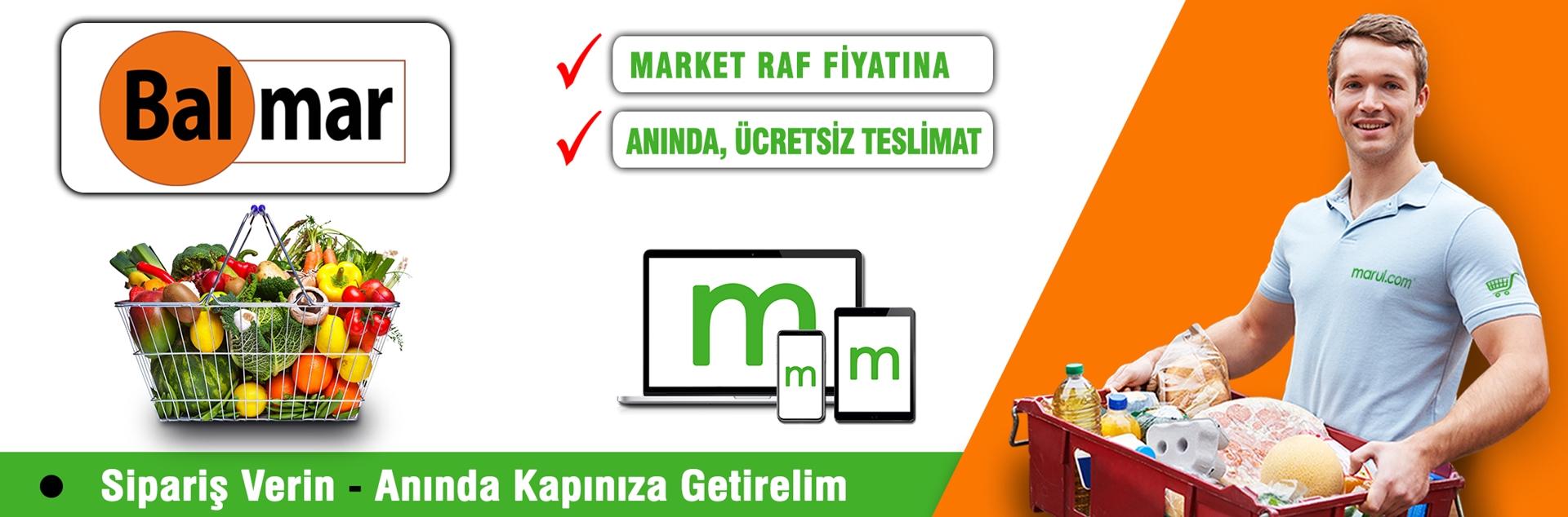 balmar market online market alışverişi