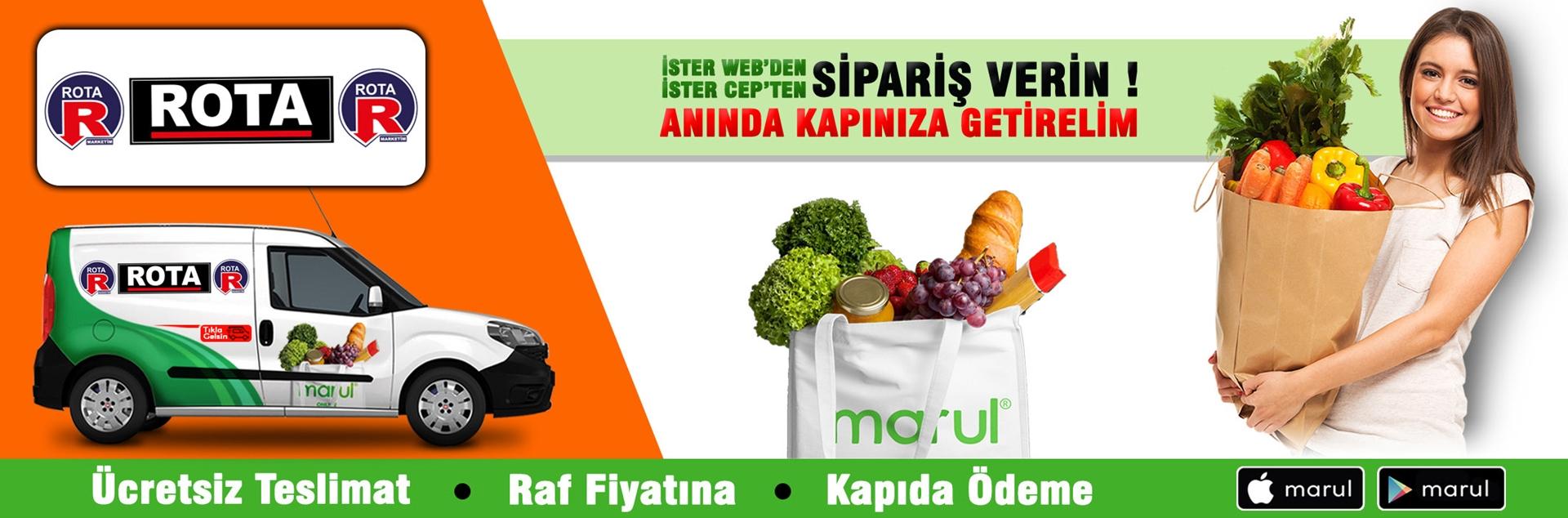rota marketleri online market siparişi