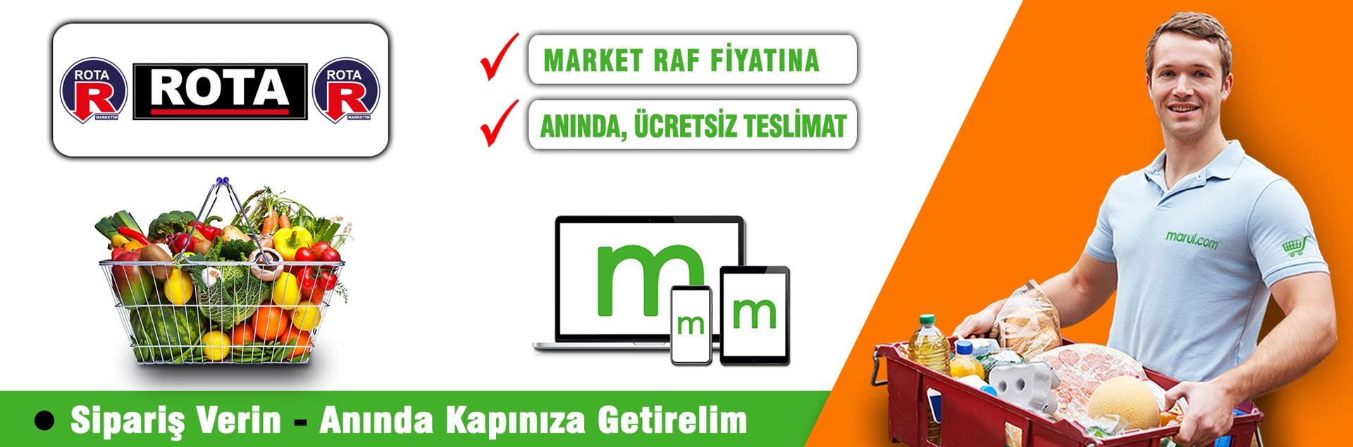 rota marketleri online market alışverişi
