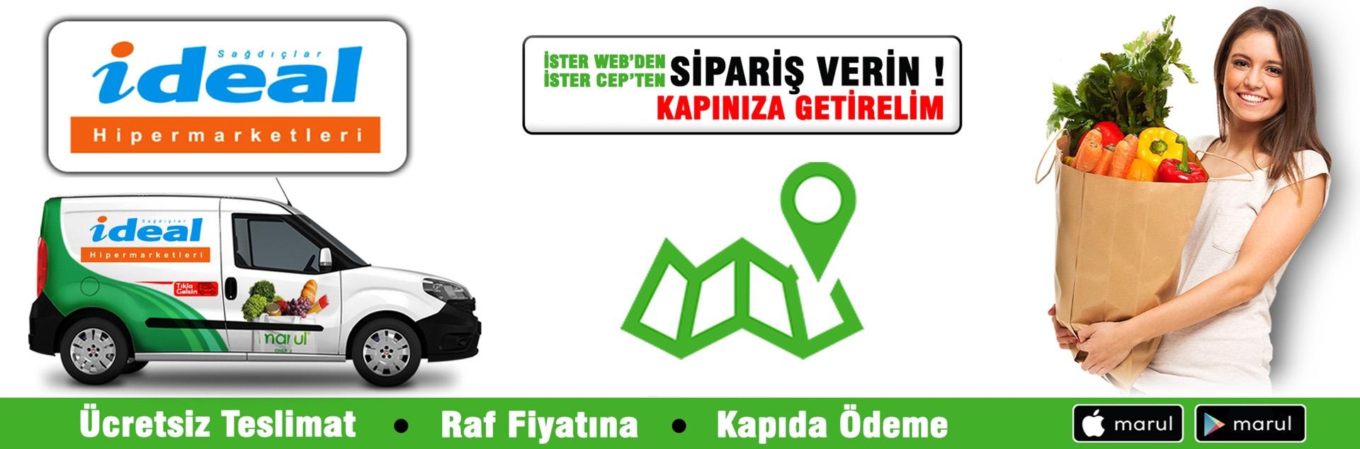 kadıköy ideal market online sipariş