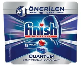 Finish Powerball Quantum Otomatik Bulaşık Makinesi Deterjanı 328 Gr 15 Tablet ürün resmi