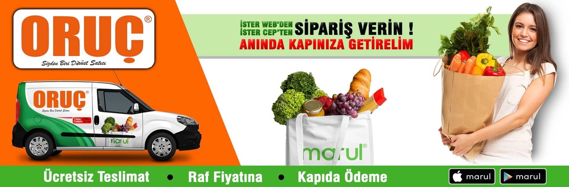 Oruç market online market siparişi ataşehir şubesi