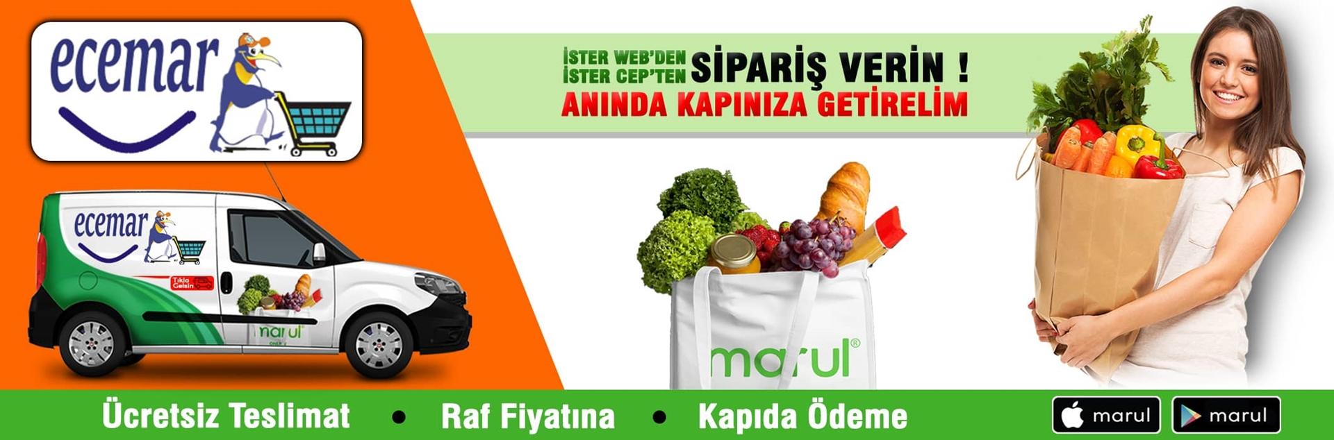 ecemar market online sipariş fahrikorutürk