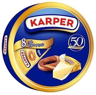 Karper 8 Li Sade Üçgen Peynir 100 Gr ürün resmi
