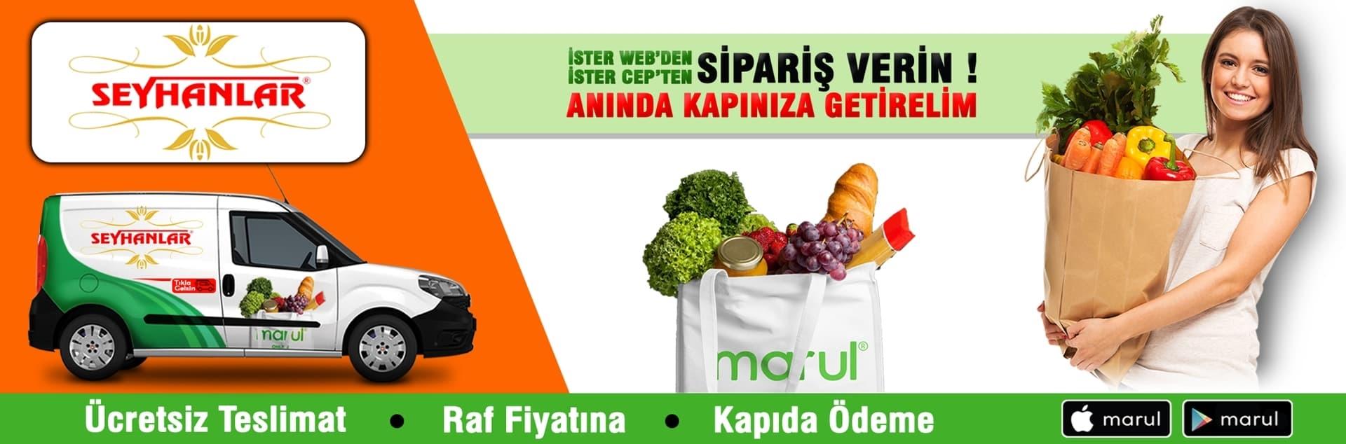 seyhanlar market sondurak şubesi online market siparişi