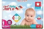 Resim Baby Turco Bebek Bezi Jumbo 1 Beden Yeni Doğan 60 Adet